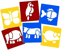 Washable Stencils Animals (Pack 6)