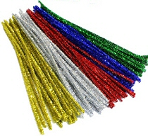 "Tinsel Pipe Cleaners 6"" Assorted Colours (Pack 250)"
