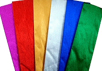 Metallic Crepe Paper Assorted Colours (Pack 6)