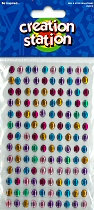 Adhesive Mini Gemstones Ovals (Pack 130)