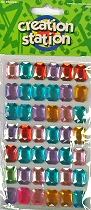 Adhesive Gemstones Rounded Rectangles (Pack 42)