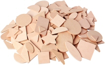 Assorted Wooden Shapes (Pack 100)