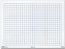 A4 10mm Grid/Blank Whiteboard 1000 micron
