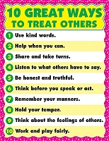 10 Ways To Treat Others Chart
