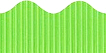 Light Green Corrugated Scalloped Border