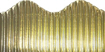 Metallic Gold Corrugated Border