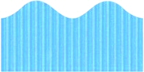 Light Blue Corrugated Scalloped Border