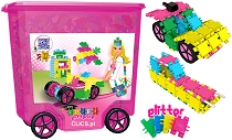 Clics Rollerbox Pink Glitter (800 pieces & building plans)