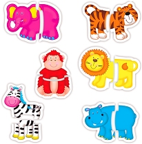 Baby Puzzles Jungle (2 piece)