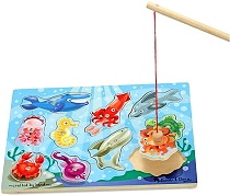 Magnetic Game Puzzle Fishing (10 piece)