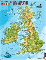 Card Puzzle Great Britain & Ireland Topographical