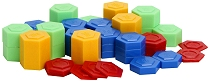 Stackable Plastic Weights Hexagonal in Bag (Set 54)
