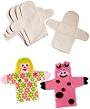 Calico Fabric Hand Puppets (Pack 5)