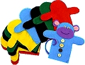 Felt Hand Puppets Assorted Colours (Pack 10)