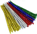 "Tinsel Pipe Cleaners 6"" Assorted Colours (Pack 50)"