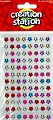 Adhesive Mini Gemstones Flowers (Pack 96)