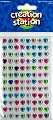Adhesive Mini Gemstones Hearts (Pack 96)