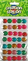Adhesive Gemstones Circles (Pack 40)