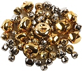 Jingle Bells Gold & Silver 10mm & 15mm (Pack 70)