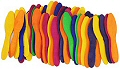 Wooden Craft Spoons Assorted Colours (Pack 60)