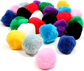 Pom Poms 40mm Assorted Colours (Pack 20)
