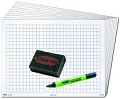 Class Pack 1cm Grided/Blank Whiteboard Set (30 x A4 1000 micron 1cm Grided/Blank Boards & Dry-Wipe Pens, 35 x Erasers)