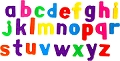 Magnetic Lowercase Letters 32mm (165 pieces)