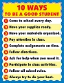 Ten Ways to be a Good Student Chart