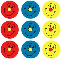 Multicolour Smiley Face Stickers (54 stickers)