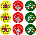 Homework Award Stickers (54 stickers)