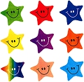 Multicolour Smiley Face Star Stickers (180 stickers)