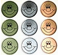 Metallic Smiley Face Stickers (54 stickers)