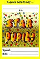 A6 Reward Certificate Notepad Star Pupil (60 sheets)