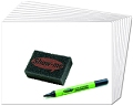 Class Pack Blank Whiteboard Set (30 x A4 1000 micron Blank Boards & Dry-Wipe Pens, 35 x Erasers)