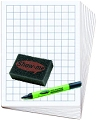 Class Pack 2cm Grided/Blank Whiteboard Set (30 x A4 2cm Grided/Blank Boards & Dry-Wipe Pens, 35 x Erasers)