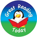 Great Reading Today Stickers 25mm (125 stickers)