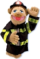People Puppet Firefighter