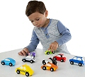Wooden Cars Set (9 Cars)