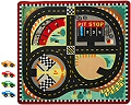 Round the Speedway Race Track Rug & Car Set (Rug & 4 Racing Cars)