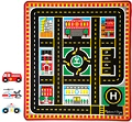 Round The City Rescue Rug & Vehicle Set (Rug & 4 Rescue Vehicles)