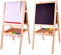 Junior Art Easel (Incl. Paper Roll, 4 Paint Pots, Eraser & Chalk)