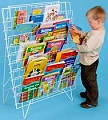 Single Sided Floor Standing Book Rack