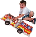 Giant Fire Engine Shaped Floor Puzzle (24 piece)