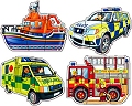 Shaped Puzzles Emergency Vehicles (3, 4, 5 & 6 piece)
