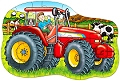 Big Tractor Shaped Floor Puzzle (25 piece)