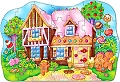 Gingerbread House Shaped Floor Puzzle (35 Piece)