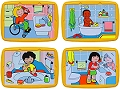 Washable Tray Puzzles Hygiene Habits Set 4 (8 Piece)