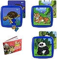 Washable Tray Puzzles Animals in Extinction 2 Set 3 (6, 12 & 25 Piece)
