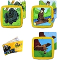 Washable Tray Puzzles Animals in Extinction 3 Set 3 (6, 12 & 25 Piece)