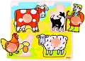 Jumbo Peg Puzzle Farm (4 piece)